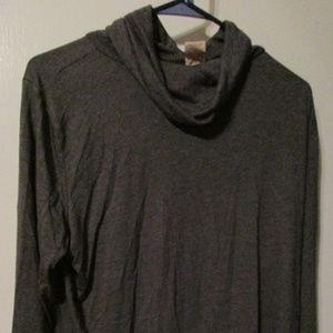 Faded Glory Grey Cowl neck top 16-18W XL